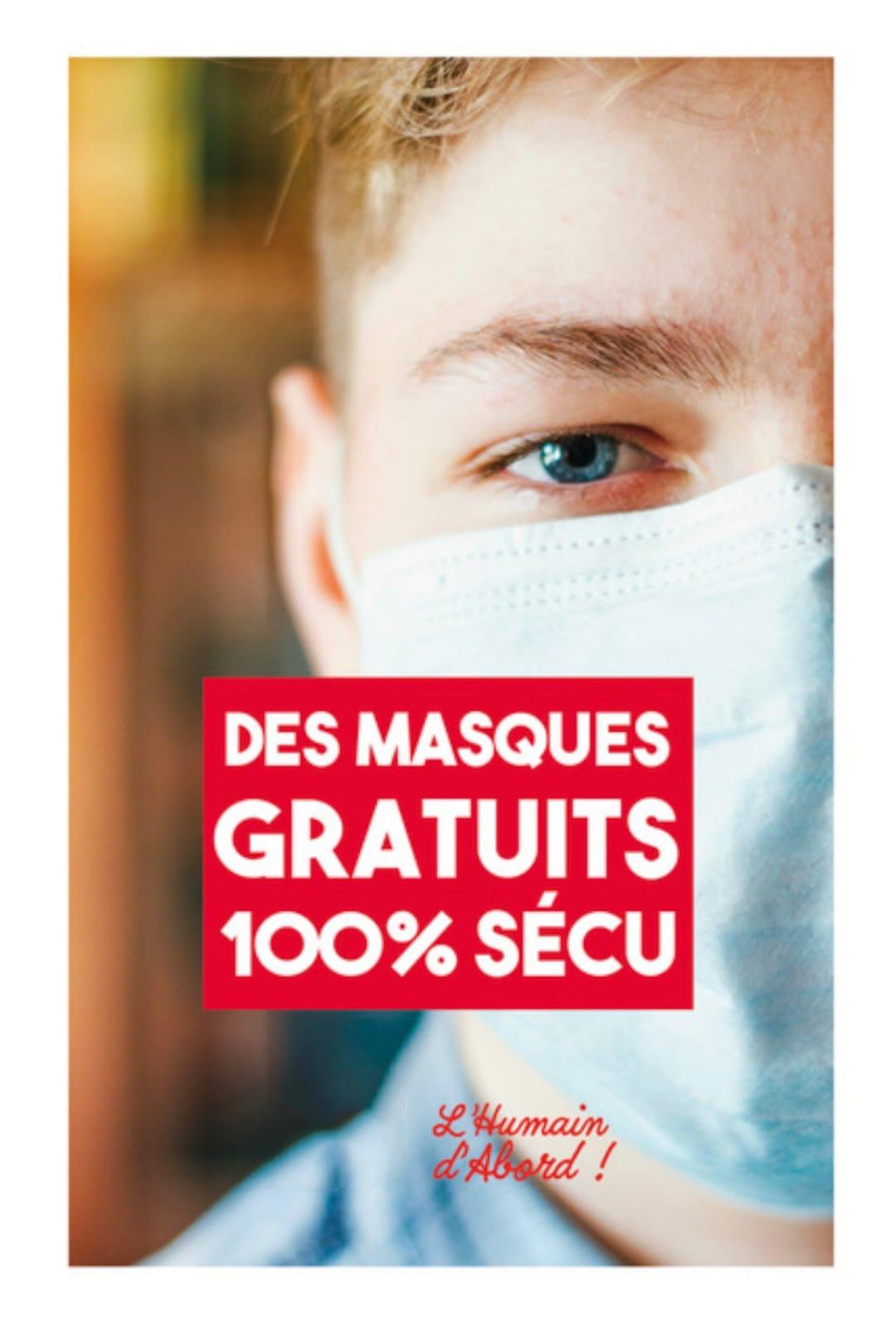 pétition masques gratuits